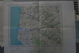 MONTREUIL Feuille J-3 - Carte IGN 1/100 000° éditée 1957- Littoral D'Etaples à Fort-Mahon, Labroye, Hesdin, Fruges Etc. - Topographical Maps
