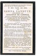 Maldegem - Kleit : 1911, Sabina Landuyt ( 2 Scans ) - Andachtsbilder