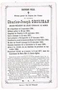 Namur, Jamagne, Philippeville: 1877, Charles-Joseph Grosjean; Ancien Président Du Grand Séminaire De Namur ( 2 Scans ) - Devotion Images