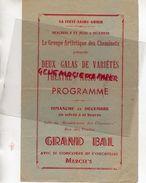 45- LA FERTE SAINT AUBIN- PROGRAMME BAL THEATRE MUSIC HALL-GROUPE ARTISTIQUE CHEMINOTS-SNCF-IMPRIMERIE SERGE PARDIJON - Programmi