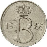 Belgique, 25 Centimes, 1966, Bruxelles, TTB, Copper-nickel, KM:153.1 - 02. 25 Centimes