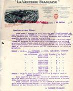 02 - ORIGNY EN THIERACHE - FACTURE LA VANNERIE FRANCAISE- TIROT LARMUZEAUX-TELLIER RICHET- BARBOTTE-CACHEUX LAMY- HALLEZ - France