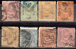 Turquie - Turkey - Collection D'anciens - 1869 / 1873 - Numéros 19 Et Suivants - 8 Timbres Oblitérés - 1858-1921 Empire Ottoman