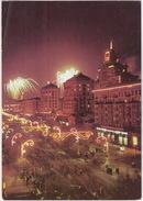 Kiev: Avenue Krechtchatik Illuminated - Fireworks - (Ukraine) - Oekraïne