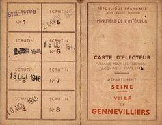 CARTE D ELECTEUR  1901  AVEC CARTE DE CHARBON  A L INTERIEURE - Maps