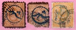 Turquie - Turkey - Collection D'anciens - Pour Le Service Intérieur Constantinople 1873 / 1875 - 3 Timbres Oblitérés - 1858-1921 Empire Ottoman