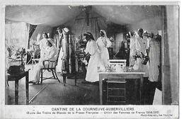 AUBERVILLIERS LA COURNEUVE  CANTINE  OEUVRE TRAINS PRESSE FRANCAISE  UNION FEMMES DE FRANCE CROIX ROUGE Petit D EFAUT 93 - Aubervilliers