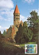 D32255 CARTE MAXIMUM CARD FD 2001 NETHERLANDS - ABBEY OF CLERVAUX ON DUTCH STAMP !! CP ORIGINAL - Cartoline Maximum