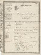 Passeport D'Indigent De Nancy à Andelbuch Autriche Maçon 1856 Papier Timbré - Documents Historiques