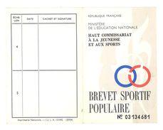 Brevet Sportif Populaire, Ministère De L'Education Nationale, Haut Commissaire M. Herzog - Sports