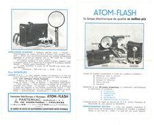 Dépliant Publicitaire 2 Volets : Atom-Flash ( Appareil Photo ), J. Pasternac, Ingénieur, Toulouse - Photographie