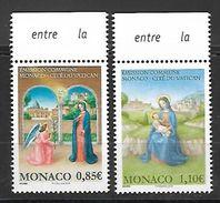 Monaco 2017 - Yv N° 3113 & 3114 ** - L'ANNONCIATION Et LA NATIVITE ** (émission Commune  Avec Le Vatican) - Ungebraucht