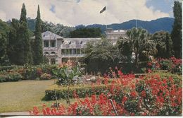 Trinidad - Residence Of The Governor General, Adjacent To The Royal Botanical Gardens 1982 Mit  Schiffstempel  (002587) - Trinidad