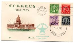 Carta De 1954 Serie De Los Patriotas. - Cuba