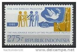 Mgm1181 SOLIDARITEIT MET DE PALESTIJNEN VOGEL BIRD SOLIDARITY PALESTINIANS INDONESIA 1983 PF/MNH  VANAF1EURO - Indonesië