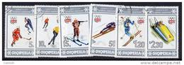 ALBANIA 1976 Winter Olympics Set Used.   Michel 1836-41 - Albanie