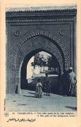 CPA Maroc Casablanca Une Jolie Porte De La Ville Indigène (animée) P930 - Casablanca