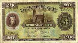 Lituanie 20 LITU Pick 27 TTB - Lituanie