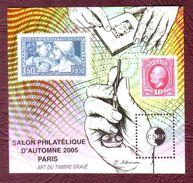 FRANCE Bloc CNEP N° 44  Salon Philatélique D'Automne, à Paris.  - Neufs ** -  PARIS - 2005 - CNEP