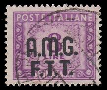 Italia – Trieste Zona A (AMG FTT): SEGNATASSE - Lire 8 Lilla - 1947/49 - 7. Trieste