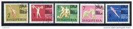 ALBANIA 1963 Sports Championships Set Used.  Michel 763-67 - Albanie