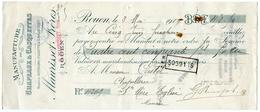 76 : ROUEN - MANDAT A ORDRE - MAURISSET FRERES, ROUEN, 1919 / CASTEL - STE MARIE EGLISE, MANCHE - Bills Of Exchange