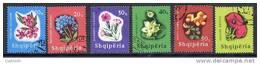 ALBANIA 1965 Flowering Plants Set  Used.  Michel 988-93 - Albania