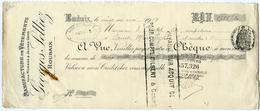 CHEQUE : GEORGES SELLIEZ, ROUBAIX, 1919 - Chèques & Chèques De Voyage