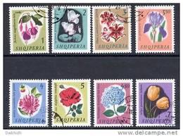 ALBANIA 1965 Flowers Set  Used.  Michel 959-66 - Albania