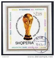 ALBANIA 1974 Football World Cup  Block 51 Used - Albania