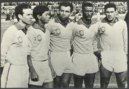 BRAZIL NATIONAL FOOTBALL TEAM World Cup Chile 1962 (Zagalo Amarildo Vava Didi Garincha) - PHOTO - 22,5 X 15,6 Cm(VFS-04) - Apparel, Souvenirs & Other
