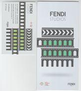 Roma, 2017, EUR, Palazzo Della Civiltà Italiana, Dépliant + Biglietto D'ingresso, Mostra FENDI Studios, 2017-2018 - Programmi