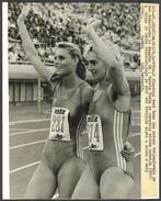 KATRIN KRABBE And HEIKE DRECHSLER - Vintage PHOTO - Womens 200 Meter Race SPLIT 1990 - 22 X 16,5 Cm (VFS-05) - Athletics