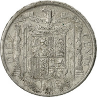 Espagne, 10 Centimos, 1945, TTB, Aluminium, KM:766 - [ 4] 1939-1947 : Gouv. Nationaliste