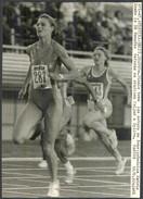 KATRIN KRABBE  - Vintage PHOTO - Womens 100 Meter Race SPLIT 1990 - 15 X 21 Cm (VFS-06) - Leichtathletik