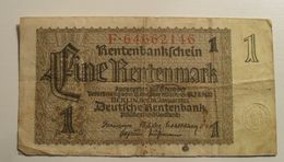 1937 - Allemagne - Germany - EINE RENTENMARK, Berlin, Den 30 Januar 1937, F.64662146 - [ 4] 1933-1945 : Third Reich