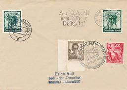 MÜNCHEN + Berlin-Spandau - 1938 ,  Volksabstimmung In Österreich , Am 10. April Dem Führer Dein Ja , Beide Ausgaben - Deutschland