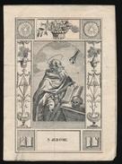 IMAGE PIEUSSE - H.PRENTJE DENTELLE -19eme _ S.jerome  - 10 X 7 Cm - Andachtsbilder