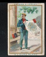 Amidon E. Verley, A L'ours Blanc, Plan De Parie - Trade Cards