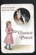 Chocolat Poulain, Fillette, Chats - Poulain