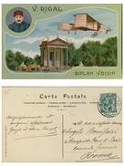 BIPLAN VOISIN V.RIGAL Ill. V.MELLONE AVIAZIONE FRANCESE Cartolina Viaggiata - Aviatori