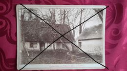PHOTO ANCIENNE COLLEE SUR CARTON - MARTIN EGLISE 76 SEINE MARITIME - CHAUMIERES - PROCHE DIEPPE - NORMANDIE - Lugares
