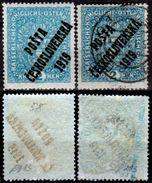Cecoslovacchia-025 - 1919 - Y&T N. 58, 58a (+/o) LH/Used - Senza Difetti Occulti. - Cecoslovacchia