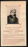 IMAGE PIEUSSE - H.PRENTJE  -  PORTRAIT AUTHENTIQUE DE LA BIENHEUREUSE BERNADETTE SOUBIROUS  11X6 CM  2 SCANS - Devotion Images