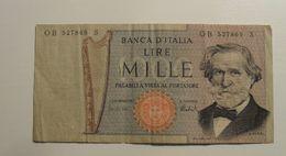 1969 - Italie - Italy - 1000 LIRE, Giuseppe Verdi, O B 527869  S - [ 2] 1946-… : Républic
