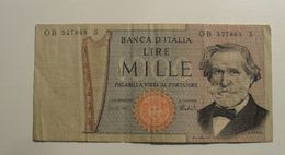 1969 - Italie - Italy - 1000 LIRE, Giuseppe Verdi, O B 527869  S - [ 2] 1946-… : Repubblica