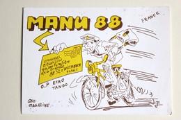 Carte QSL Wisembach Maison Forestière De La Gravelle Manu 88 Cycliste 1991 - Radio Amateur