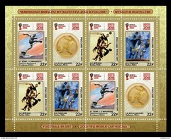 Russia 2017 Mih. 2521/24 FIFA World Cup In Russia. Football In Art. Painting. Sculpture (M/S) MNH ** - 1992-.... Federation