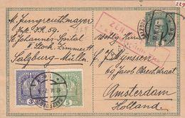 Autriche Entier Postal Censuré Pour La Hollande 1917 - Stamps