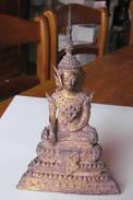 Boudha En Bronze Doré Thaïlande 18°-19° - Art Asiatique
